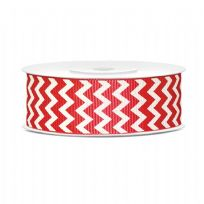 Grosgrain Ribbon Red 25mm x 10m